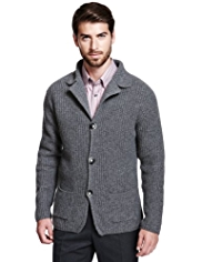 Collezione Wool Rich Blazer Cardigan with Cashmere