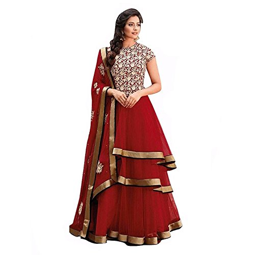 vaankosh fashion womens Georgette Bollywood Anarkali Style Designer Salwar Suit Dress Materials