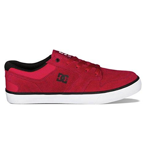 DC Men's Nyjah Vulcanized Sneaker,Red/Black,10