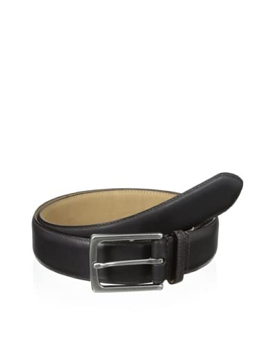 John Varvatos Star USA Men's 32 mm Feather Edge Stained Strap Belt  [Brown]