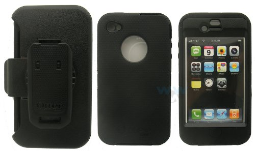 iPhone 4 Defender Series Case with Holster, APL2-I4XXX-20-C4OTR