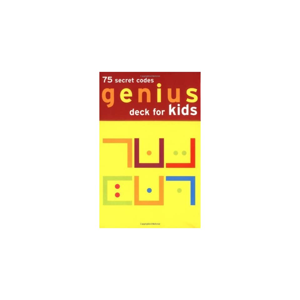 Genius Deck Secret Codes for Kids [Cards] Chronicle Books on