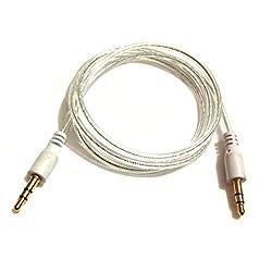 Shop Swipe 3m White Slim 3.5mm Stereo Audio Cable - 3.5mm Audio Aux Stereo - Male to Male Headphone Cable - 2x 3.5mm Mini Jack (M) White