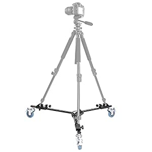 Neewer® Photography Professional Tripod Dolly with Rubber Wheels for Camera Photo Video