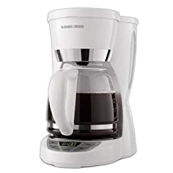 Black & Decker CM1050W 12-Cup Programmable Coffeemaker, White with Mini Tool Box (cog)