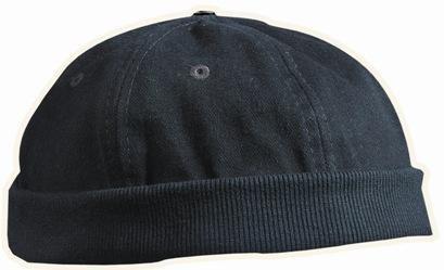 Original Dockland Wollmütze Heavy Brushed Cotton Worker Cap mit Lüftungslöchern in Einheitsgrösse und 5 Farben Schwarz