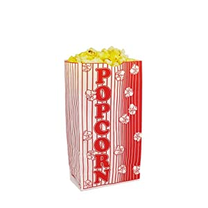 2 Small Flat Bottom Popcorn Bags Bundle Of 100 Electric