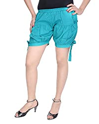 Soundarya Women's Regular Fit Pants (HP5, Turquoise)