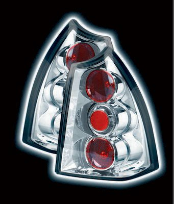 PEUGEOT 307 SW (ESTATE) TAIL LIGHTS - CHROME LEXUS-STYLE