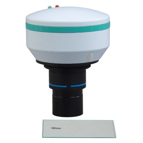 Omax 2.0Mp Microscope Digital Usb Camera With Advanced Software With 0.01Mm Calibration Slide