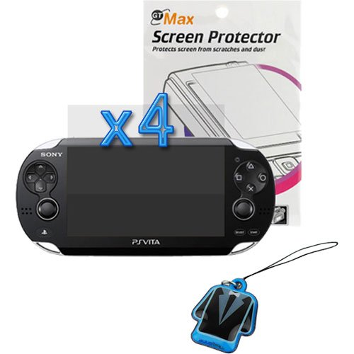 Birugear 4X Clear Lcd Screen Protector + Lcd Pvc Mobile Cleaner For Sony Ps Vita