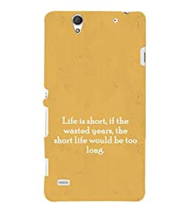 EPICCASE Life Quotes Mobile Back Case Cover For Sony Xperia C4 (Designer Case)