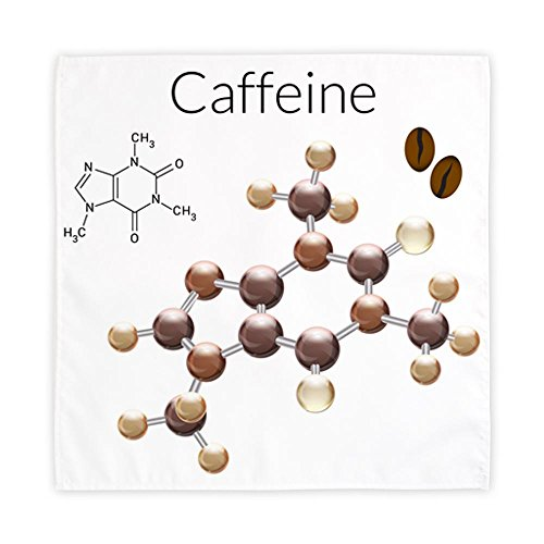 Cloth Cocktail Napkin 10 Inch (2) Caffeine Lover 3D Atomic Structure