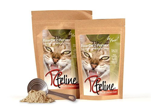 TCfeline Raw Cat Food - A Premix (Supplement) to make a Homemade raw cat food diet. All Natural, Grain Free, Human Grade and Species Appropriate Raw for Cats. (with Chicken Liver - Regular 17 oz) (Raw Made Easy Cat compare prices)