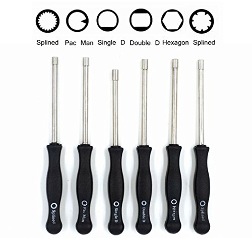 2 Cycle Carburetor Adjustment Tool 21 Teeth Splined / Pac Man / Single D / Double D / 7-Teeth Splined Pac Man / Hexagon Carb Screwdriver for Common 2 Cycle Small Engine(Set of 6) (2 Cycle Carb Tool compare prices)