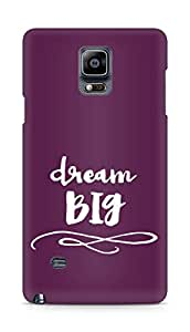 AMEZ dream big Back Cover For Samsung Galaxy Note 4