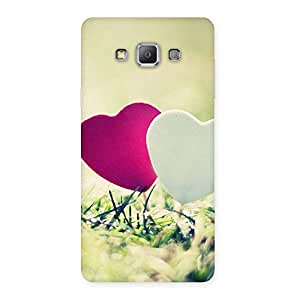 Enticing Heart Couple Multicolor Back Case Cover for Galaxy A7