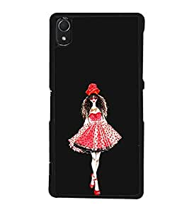 Printvisa Girl In A Beautiful Dress 2D Hard Polycarbonate Designer Back Case Cover For Sony Xperia Z3 :: Sony Xperia Z3 Dual :: Sony Xperia Z3 D6633