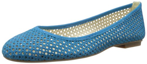 French Sole FS/NY Women's League Ballet Flat,Turquoise,6.5 M US