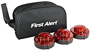 3 First Alert 9.1.1 LED Emergency Beacon Flares with Storage Bag