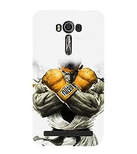 printtech Game Fighter KO Back Case Cover for Asus Zenfone 2 Laser ZE601KL