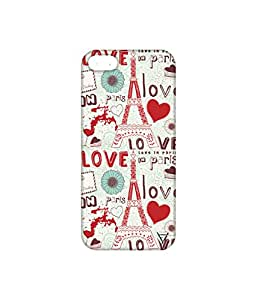 Vogueshell Love in Paris Printed Symmetry PRO Series Hard Back Case for Apple iPhone 5s