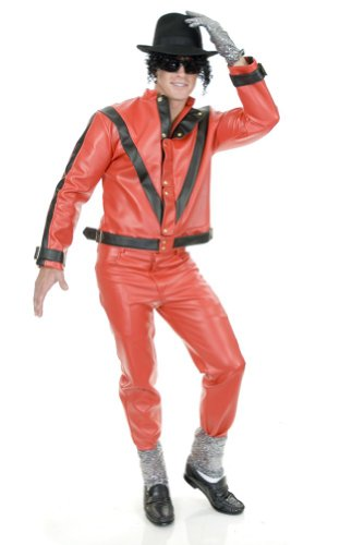 Charades Men's Thriller Jacket Michael Jackson Extra Small Red
