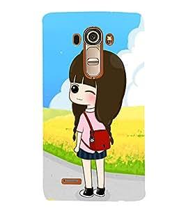 Vizagbeats Winking Girl Back Case Cover for LG G4::LG G4 H815