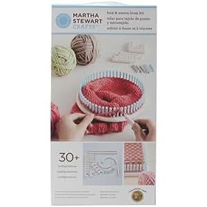 Martha Stewart Crafts Lion Brand Yarn 5000-100 Knit and Weave Loom Kit