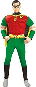 Dc Comics Deluxe Muscle Chest Robin Adult Costume