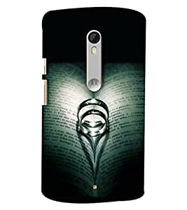 Blue Throat Ring In The Books Hard Plastic Printed Back Cover/Case For Moto X Style