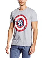 Marvel Camiseta Manga Corta Captain America Shield (Gris)