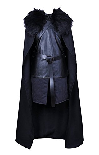 Adult Men's Halloween Deluxe 1:1 Jon Snow Costume Full Set