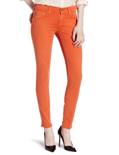 7 For All Mankind Women's Gwenevere Skinny Fit Jean, Deep Canteloupe, 32