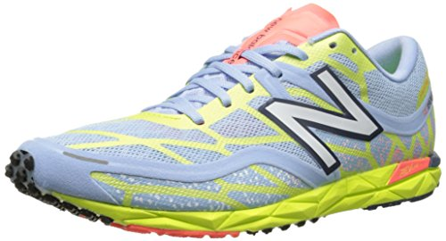 New Balance Women's WRC1600 Competition Flat,Silver/Yellow,10 B US