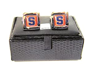 Buy NCAA Syracuse Orangemen Square Cufflinks With Square Shape Engraved Logo Design Gift Box Set by aminco
