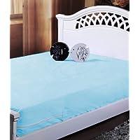 Homefab India Blue Waterproof Mattress Protector (91X189X12 Cm Each) - Set Of 2