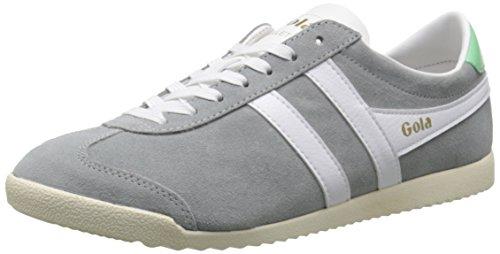 Gola Women's Bullet Suede Fashion Sneaker, Grey/White, 7 M US