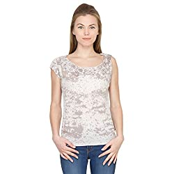 Species Women's Regular Fit Top (S-4351_Off White_X-Large)