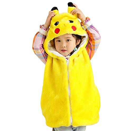 Toddler Halloween Costume Warm Hooded Pikachu