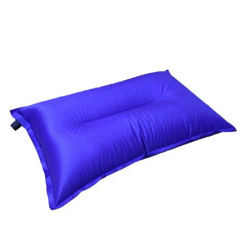 DABADA(ダバダ)エアピロー エアーピロー エアマット キャンプ マット エアーマット キャンプマット 自動膨張式 インフレータブル 軽量 コンパクト (ブルー)