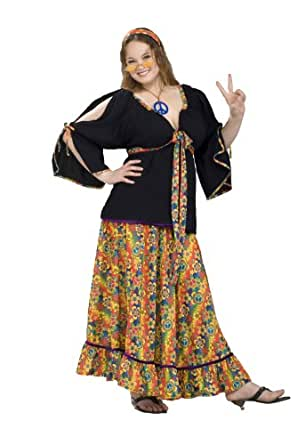 Forum Plus Size Groovy Mama Costume, Red, Plus