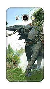 Amez designer printed 3d premium high quality back case cover for Samsung Galaxy J7 - 6 (New 2016 Edition) (War age elephant)