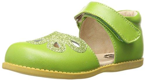 Livie & Luca Petal Ankle Strap Sandal (Infant/Toddler/Little Kid), Grass Green, 8 M US Toddler