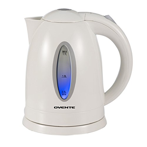 Ovente KP72W 1.7 Liter BPA Free Cordless Electric Kettle, White (Best Selling Tea Kettle compare prices)