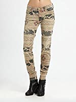 Current/Elliott Print Ankle Skinny Jeans in Vintage Tribal