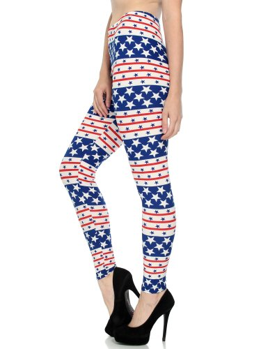 Simplicity Ladies Hipster Politician Printed Stretchy Soft Leggings