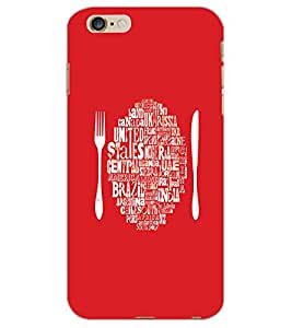 APPLE IPHONE 6 S PLUS FOLK AND KNIFE Back Cover by PRINTSWAG