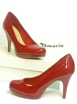 tamaris lack pumps rot gr 38 schuhe handtaschen. Black Bedroom Furniture Sets. Home Design Ideas