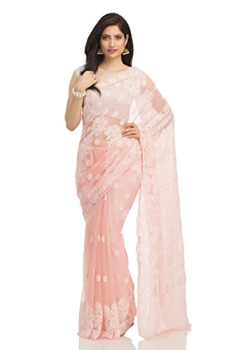 ADA-Lucknow-Chikankari-Hand-Embroidered-Designer-Ethnic-Faux-Georgette-Saree-With-Blouse-A117680